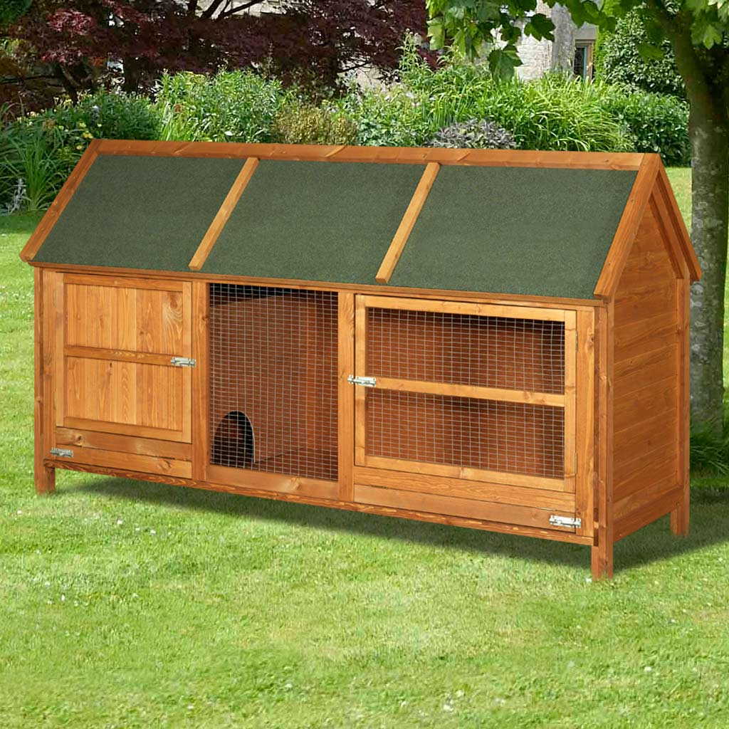 Home roost wordsworth extra large rabbit hutch for 2 story guinea pig cages for sale