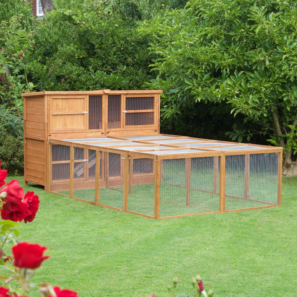 Home Amp Roost Great 6ft Chartwell Double Rabbit Hutch Fox